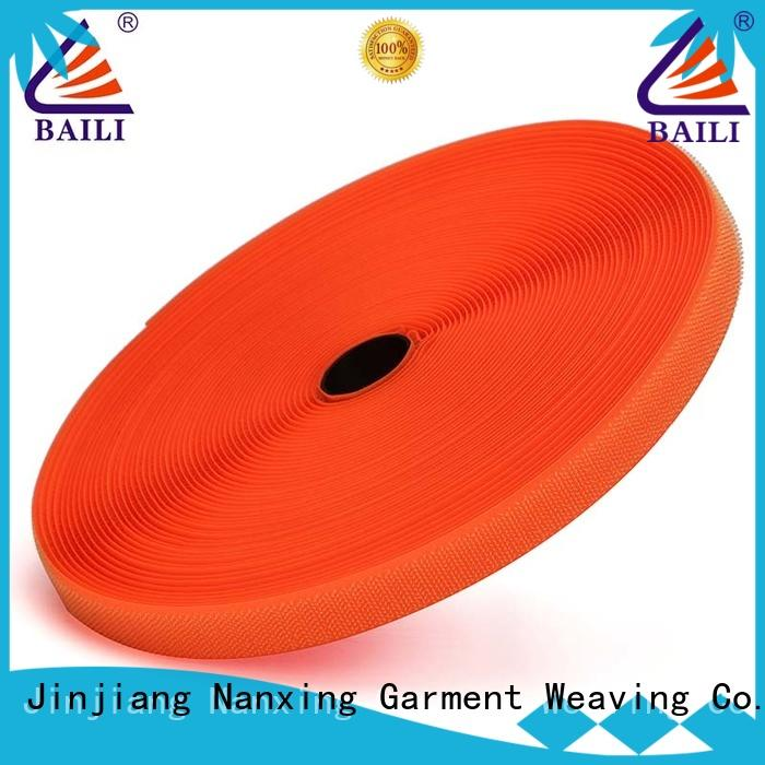 BAILI A grade quality hook and loop fastener tape manufacturer for leather-ware