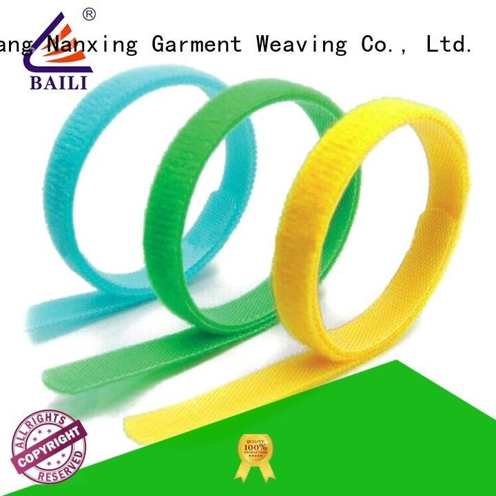 BAILI elastic hook and loop fastener factory direct supply for luggage