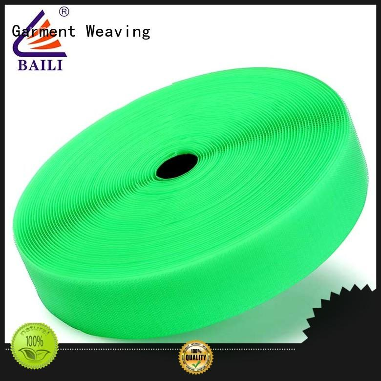 BAILI strong peeling strength hook and loop fastener tape customized for bags