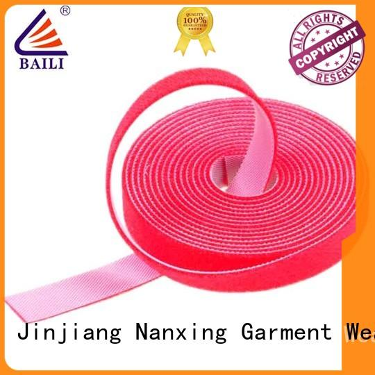 BAILI roll double sided hook and loop tape manufacturer for strapping