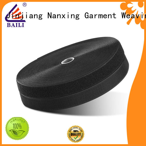 strong peeling strength hook and loop fastener tape manufacturer for shoes BAILI
