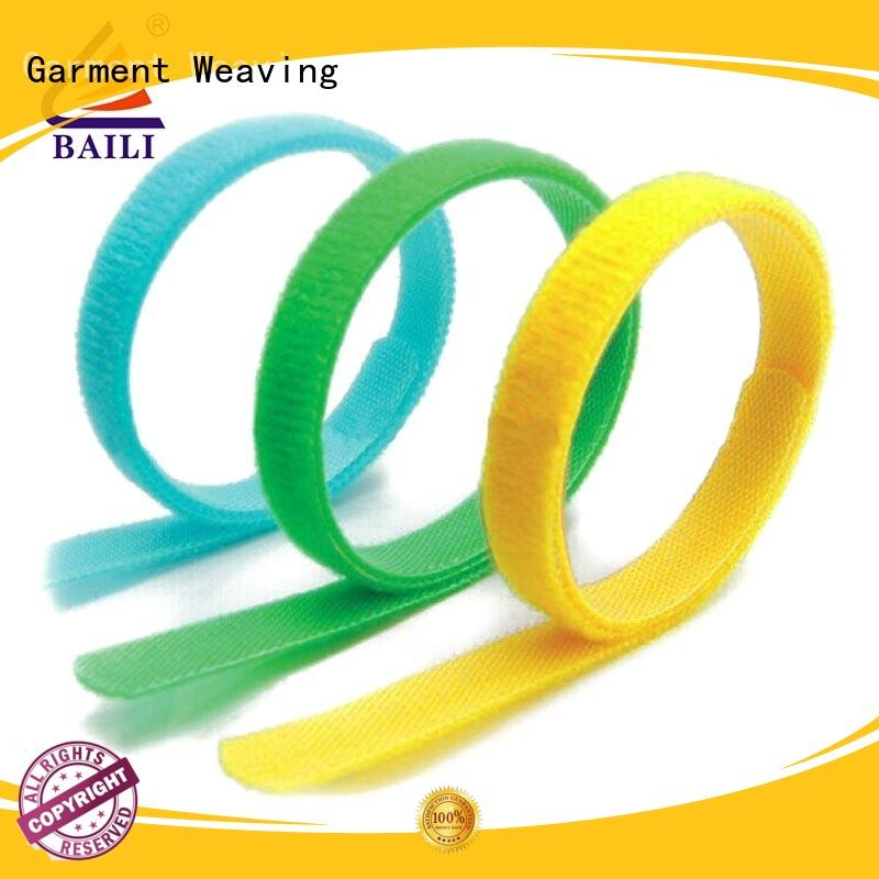 BAILI nylon hook and loop cable ties factory direct supply for bundle