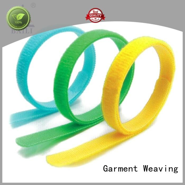 BAILI multicolor nylon hook and loop fasteners manufacturer for bundle