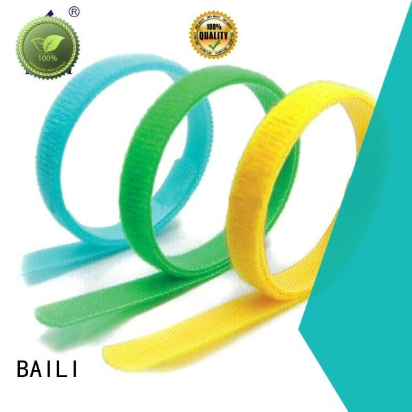 BAILI wrap tie hook and loop straps factory direct supply for cable ties