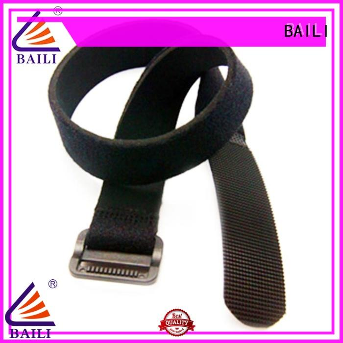 multicolor adjustable hook and loop fastener strap elastic for cable ties BAILI
