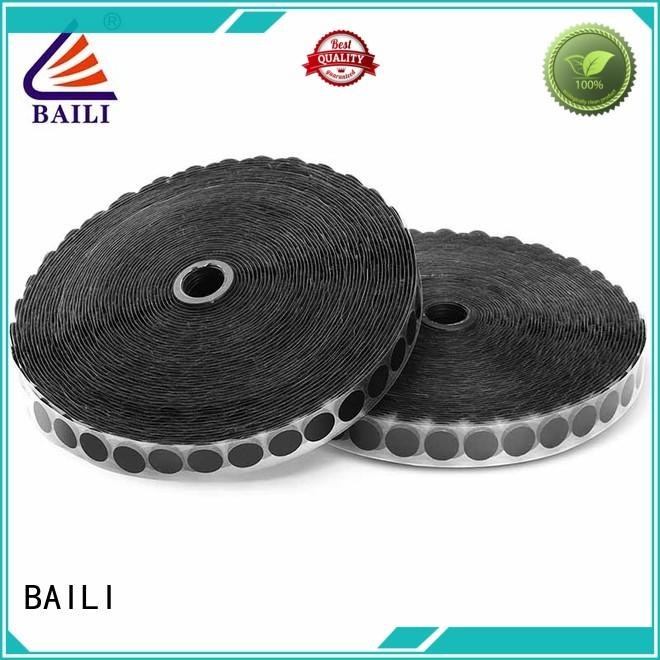 BAILI with hot melt glue adhesive hook and loop tape supplier for metal