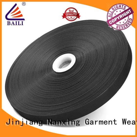 BAILI lightweight hook pile tape manufacturer for clothes