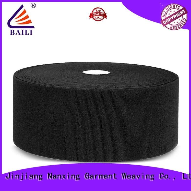 BAILI lightweight black hook and loop tape plastic for bags