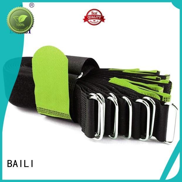 BAILI reusable hook & loop fasteners wholesale for bundle