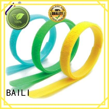 reusable hook and loop fastener wrap tie supplier for bundle